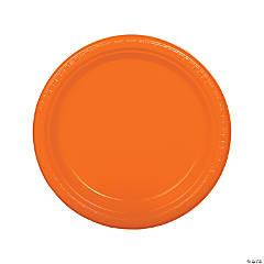 Orange Plastic Dinner Plates