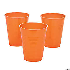 Orange Plastic Tumblers