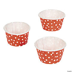 Orange Polka Dot Snack Cups