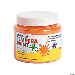 Orange Powder Tempera Paint