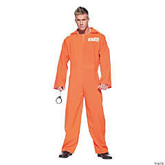 Orange Prison Jumpsuit Costume for Adults