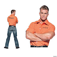 Orange Prisoner Shirt Costume for Men