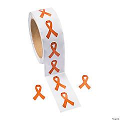 Orange Ribbon Awareness Sticker Rolls