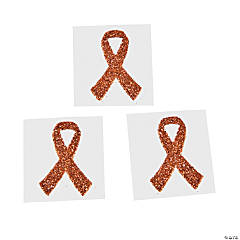 Orange Ribbon Tattoo Stickers
