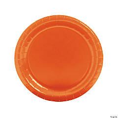 Orange Round Paper Dinner Plates