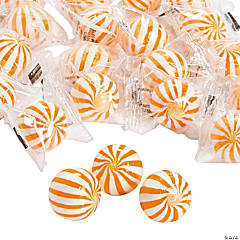 Orange Striped Hard Candy Balls