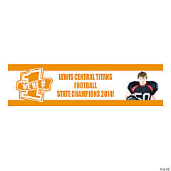 Orange Team Spirit Custom Photo Banner