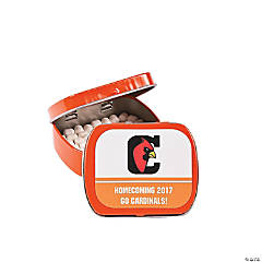 Orange Team Spirit Custom Photo Mint Tins