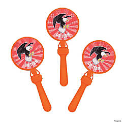 Orange Team Spirit Custom Photo Round Clappers
