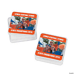 Orange Team Spirit Custom Photo Square Containers