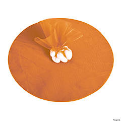 Orange Tulle Circles