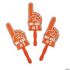 Orange We're #1 Finger Hand Fans