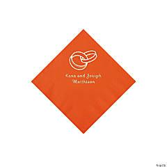 Orange Wedding Ring Personalized Napkins - Beverage