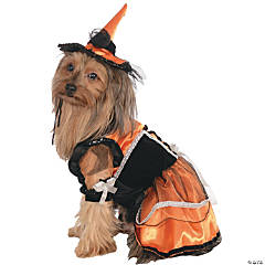 Orange Witch Dog Costume