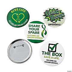 Organ Donor Awareness Buttons