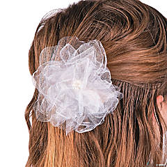 Organza Flower Wedding Décor Idea