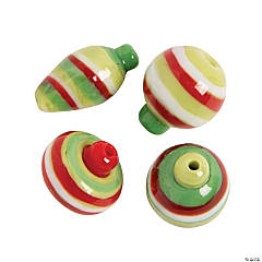 Ornament Balls Lampwork Beads - 11mm x 20mm