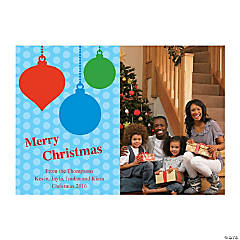 Ornament Custom Photo Christmas Cards