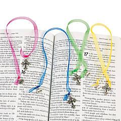 Ornate Cross Ribbon Bookmarks