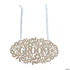 Ornate Groom Chair Sign