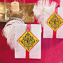 Ostrich Feather Treat Bags Idea