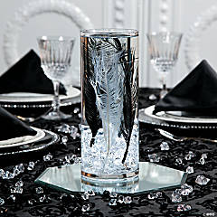 Ostrich Feathers Wedding Centerpiece Idea