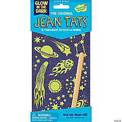 Outer Space Glow-In-The Dark Jean Tats Pack