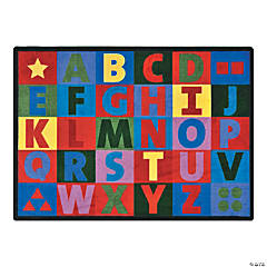 oversize alphabet classroom rug