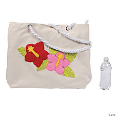 Oversized Luau Tropical Beach Tote