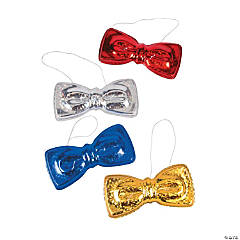 Oversized Metallic Plastic Bow Ties