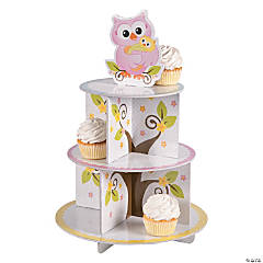 Owl Baby Shower Cupcake Stand