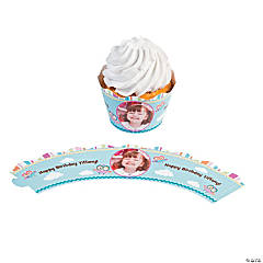 Owl Custom Photo Cupcake Wrappers