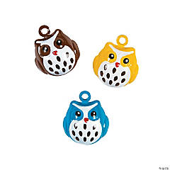 Owl Jingle Bell Charms