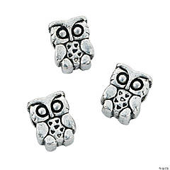 Owl Large Hole Beads - 10mm
