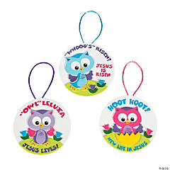 Owl Leluia Easter Ornament Craft Kit