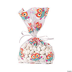 Owl Party Cellophane Bags