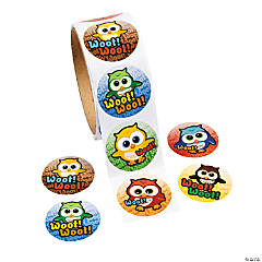 Owl Roll of Stickers