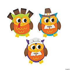Owl Thanksgiving Magnet Craft Kit