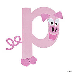 """P Is For Pig"" Lowercase Letter P Craft Kit"