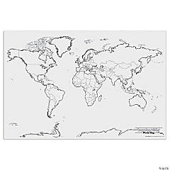 Pacon® Learning Walls, World Giant Map, 48
