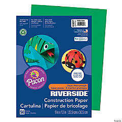 Pacon® Riverside® Construction Paper - Holiday Green