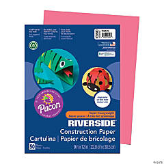 Pacon® Riverside® Construction Paper - Raspberry