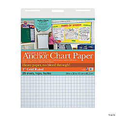 Pacon<sup>&#174;</sup> Heavy-Duty Anchor Grid Ruled Chart Paper