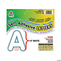 Pacon® White Self-Adhesive Letters