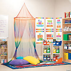 Paint Chip Classroom Reading Corner Idea