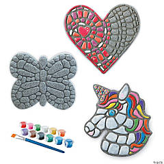 Paint Your Own Stepping Stones: Unicorn, Butterfly & Heart