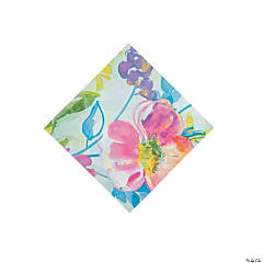Painterly Floral Beverage Napkins