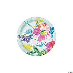 Painterly Floral Dessert Plates