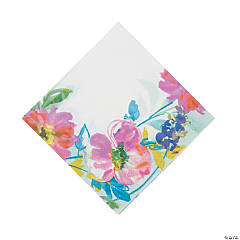 Painterly Floral Luncheon Napkins