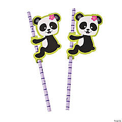 Panda Party Paper Straws